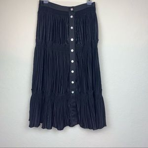 Soft Surroundings button front maxi skirt, size S